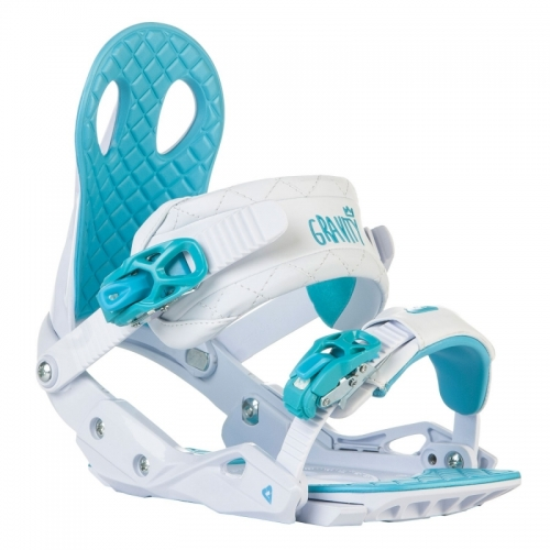 Dámské snowboardové vázání Gravity G2 Lady white/blue bílé/modré - VÝPRODEJ