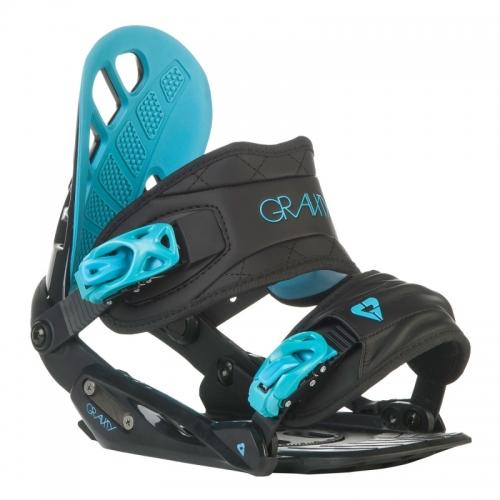Dámské snowboard vázání Gravity G1 Lady black/blue černé/modré - VÝPRODEJ