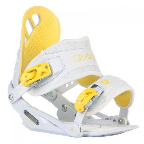 Dámské snowboardové vázání Gravity G1 Lady white/yellow bílé/žluté - VÝPRODEJ