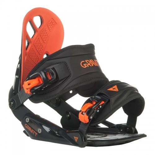 Vázání na snowboard Gravity G1 black/red černé/červené - AKCE