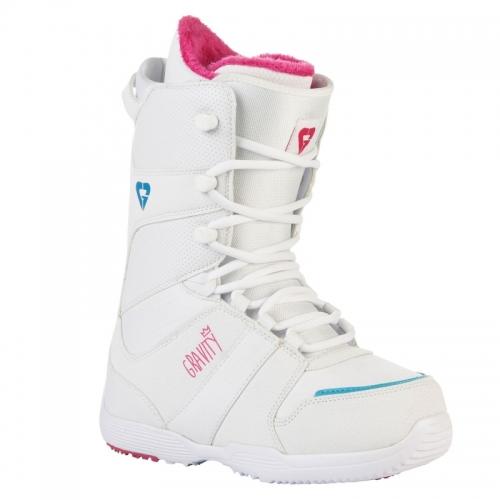 Dámské snowboardové boty Gravity Sage white/bílé  - VÝPRODEJ