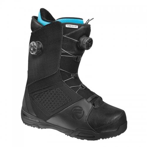 Snowboardové boty Flow Helios Focus black s 2 kolečky na utahování - VÝPRODEJ