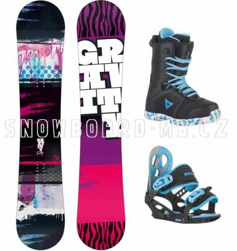 Dětský snowboardový komplet Gravity Fairy, snowboardové sety pro dívky, děti - VÝPRODEJ