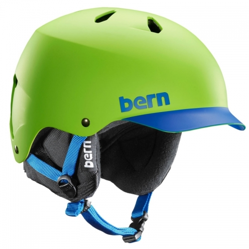 Snowboardová helma Bern Watts matte neon - VÝPRODEJ