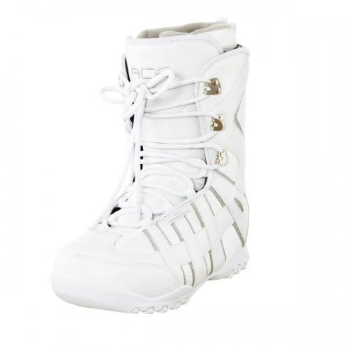 Dámské boty na snowboard Ace white, levné snowboardové boty - VÝPRODEJ