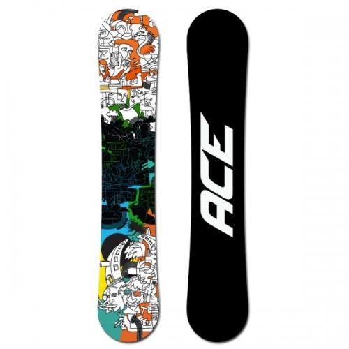 Pánský allmountain snowboard Ace Rush black/blue/orange - VÝPRODEJ