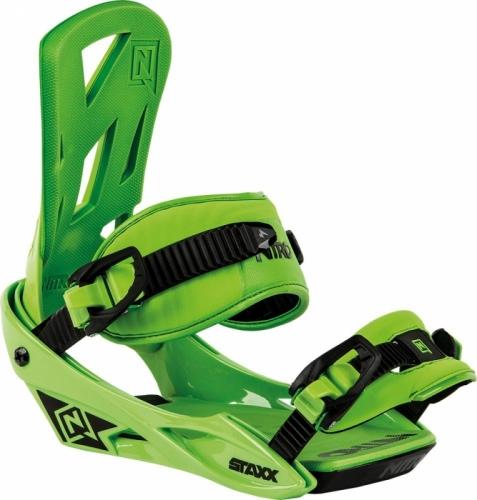 Snowboardové vázání Nitro Staxx green / zelené - AKCE