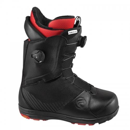 Kvalitní a pevné boty na snowboard Boty Flow Helios Focus 2 boa kolečka black/černé - VÝPRODEJ
