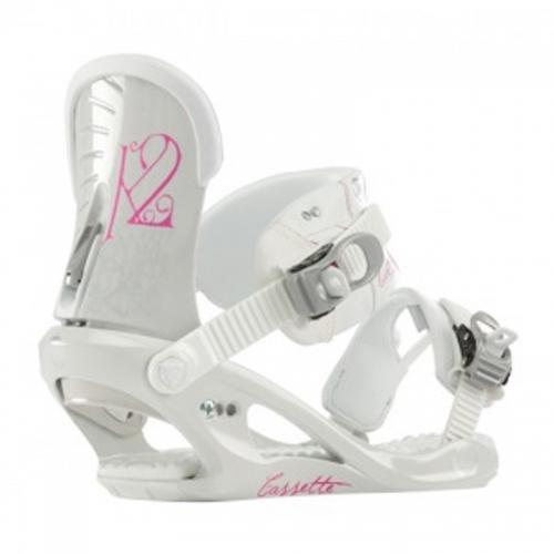 Dámské a dívčí snowboardové vázání K2 Cassette white - VÝPRODEJ