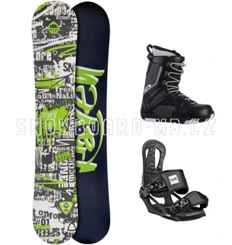 Pánský snowboardový komplet Raven Core černý - VÝPRODEJ