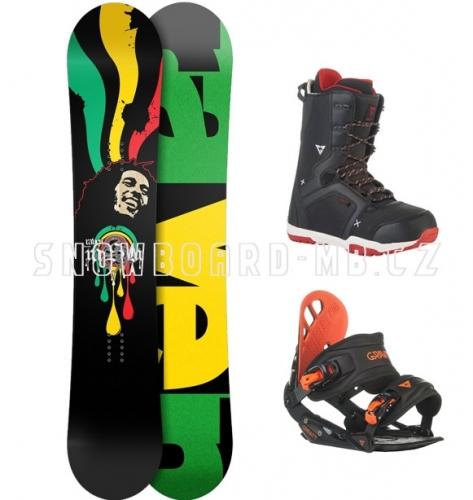 Pánský snowboardový set s botami Raven Rasta Bob Marley - VÝPRODEJ