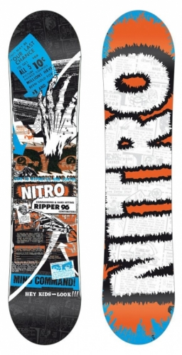 Dětský snowboard Nitro Ripper, malé snowboardy pro nejmenší - AKCE