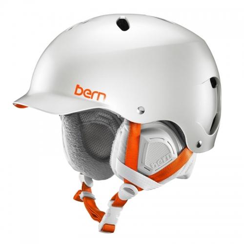 Snowboardová dámská helma Bern Lenox Satin delphin grey - AKCE