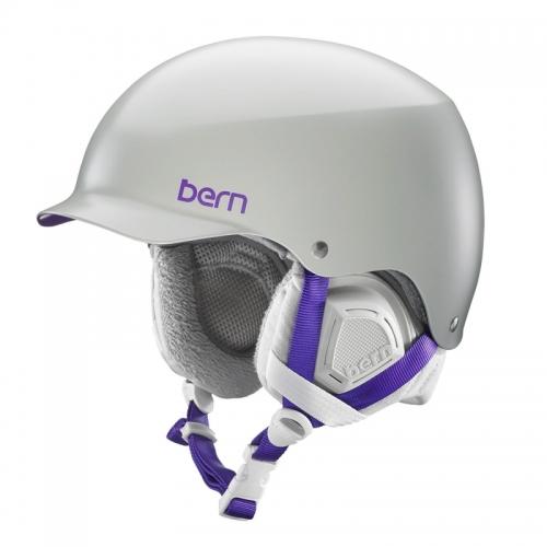 Snowboardová helma Bern Muse Satin grey - AKCE
