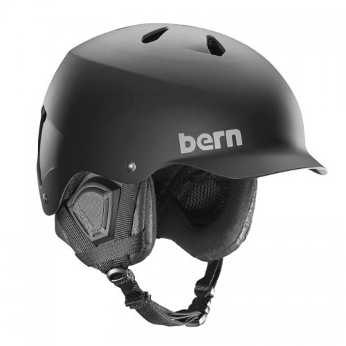 Velká helma na snowboard i lyže Bern Watts matte black - VÝPRODEJ