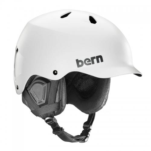 Snowboardová pánská přilba Bern Watts Satin white / bílá  - VÝPRODEJ