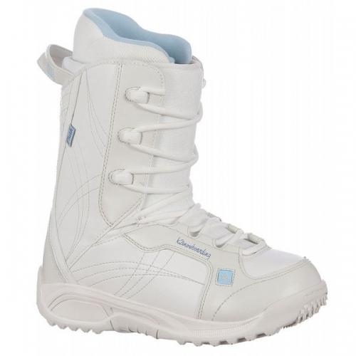Dámské boty na snowboard K2 Plush white/bílé - VÝPRODEJ