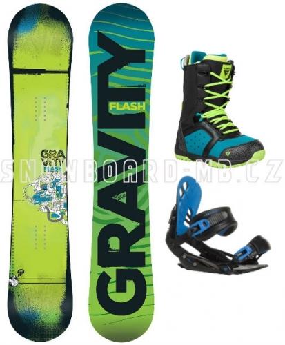 Chlapecký junior snowboardový set Gravity Flash blue (větší boty)