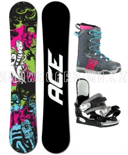 Dámský levný  snowboard komplet pro začátečníky Ace Monster - VÝPRODEJ