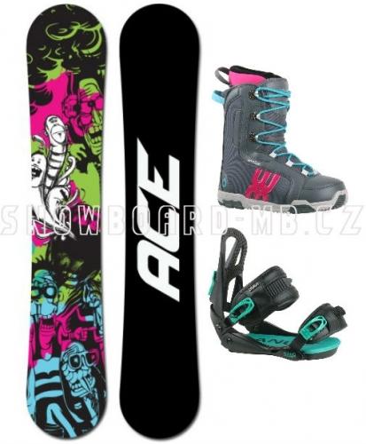 Dámský snowboardový komplet Ace Monster, dámské snowboard sety - VÝPRODEJ