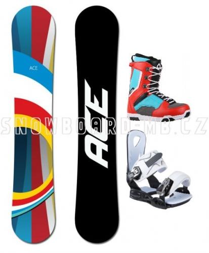 Snowboard komplet Ace B52 red/white - VÝPRODEJ