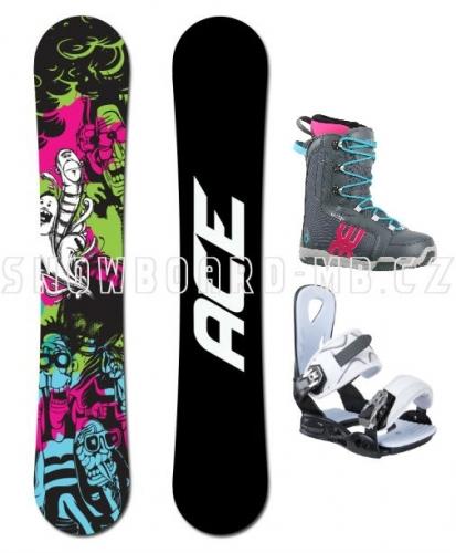 Dámský snowboard komplet Ace Monster, levné snowboardy - VÝPRODEJ