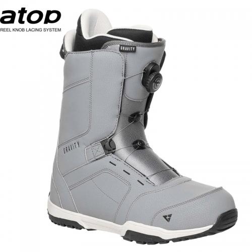 Snowboardové boty Gravity Recon Atop grey, pánská snb obuv s kolečkem - VÝPRODEJ