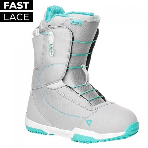 Dámské snowboardové rychloutahovací boty Gravity Aura Fast Lace light grey - VÝPRODEJ