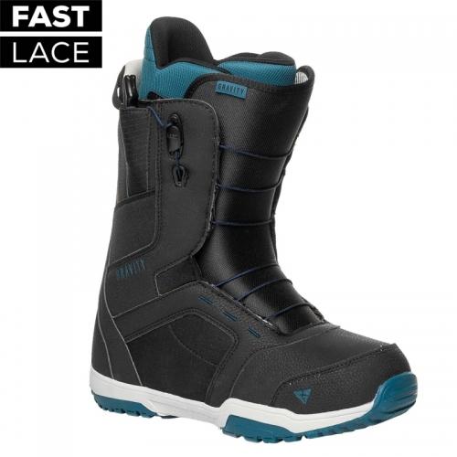 SNB boty Gravity Recon Fast Lace black, rychloutahovací boty na snowboard - VÝPRODEJ