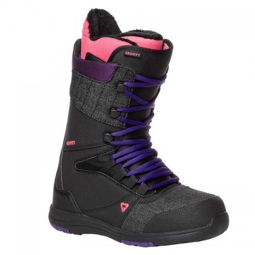 Dámské snowboardové boty Gravity Sage black / purple / pink - VÝPRODEJ