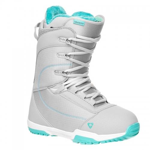 Dámské boty na snowboard Gravity Aura light grey, světle šedé/modré - VÝPRODEJ