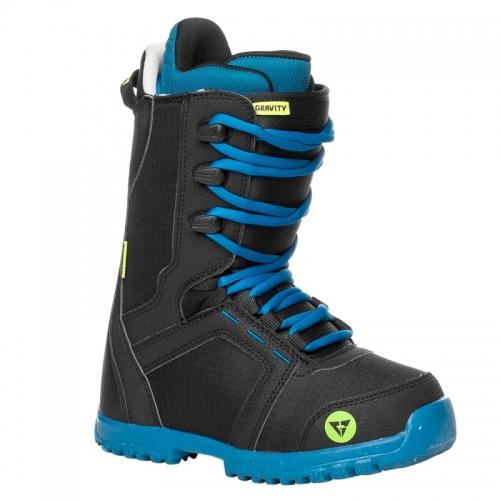 Chlapecké snowboardové boty Gravity Micro black, snb obuv černo-modrá - VÝPRODEJ