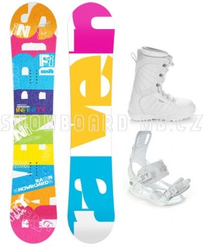 Dámský snowboardový set s botami Raven Infinity white