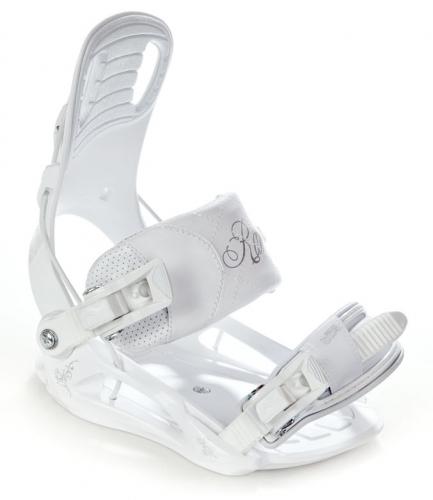 Dívčí snowboardový set Raven Pearl white / bílý s botami a vázáním - AKCE