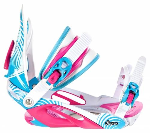 Dámský snowboardový komplet Raven Style modrá / bílá / růžová - VÝPRODEJ