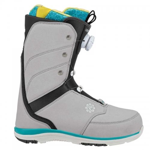 Dámské snowboardové boty Flow Onyx Coiler grey/šedé rychloutahovací BOA - VÝPRODEJ