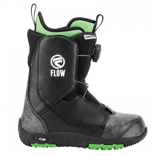 Dětské snowboardové boty Flow Micron Boa black s kolečkem - VÝPRODEJ