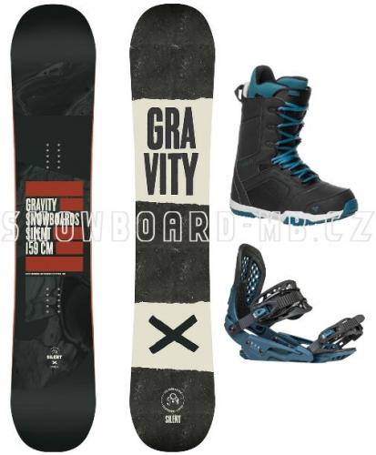 Snowboard komplet Gravity Silent 17/18 - VÝPRODEJ