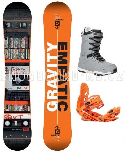 Snowboard komplet Gravity Empatic 17/18 - VÝPRODEJ