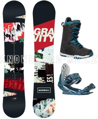 Snowboard komplet Gravity Madball 17/18 - VÝPRODEJ
