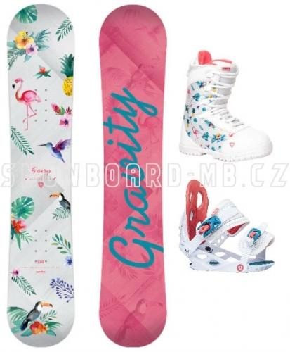 Dětský snowboard komplet Gravity Fairy 17/18 - VÝPRODEJ