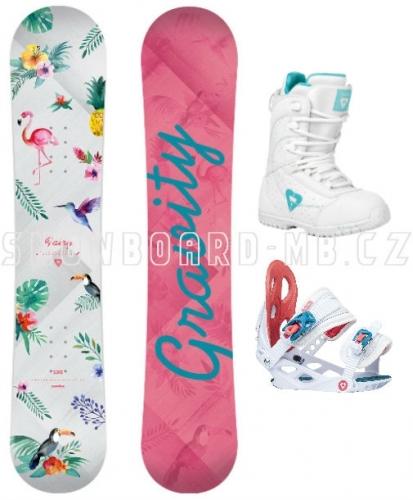 Dětský snowboard set Gravity Fairy 17/18 - VÝPRODEJ