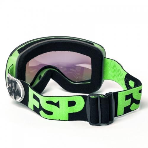 Snow brýle Pitcha FSP Black fluo/green mirrored, zeleno-modré sklo