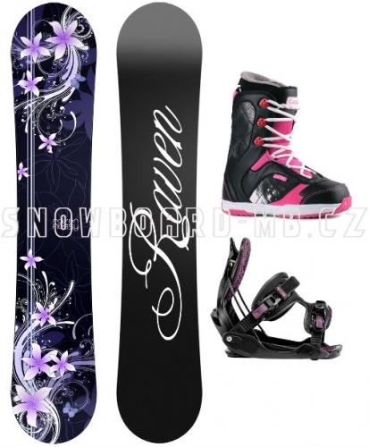 Dámský snowboard komplet Raven Flossy purple - VÝPRODEJ