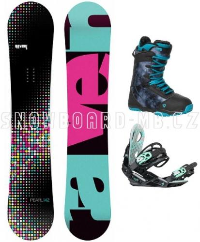 Dámský snowboard komplet Raven Pearl black/blue - VÝPRODEJ