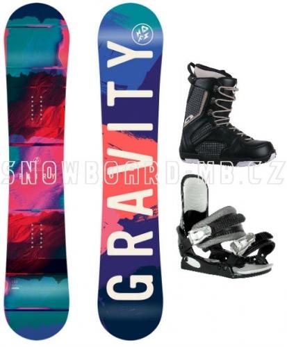 Dívčí juniorský snowboardový komplet Gravity Fairy s boatmi Westige - VÝPRODEJ