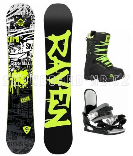Klučíčí dětský snowboard komplet Raven Core junior
