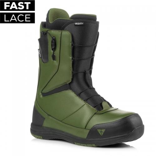 Boty na snowboard Gravity Manual Fast Lace black/olive - VÝPRODEJ