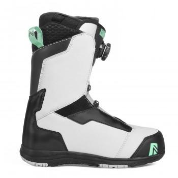 Dámské snowboardové boty Nidecker Onyx Coiler grey/aqua 2019 - AKCE