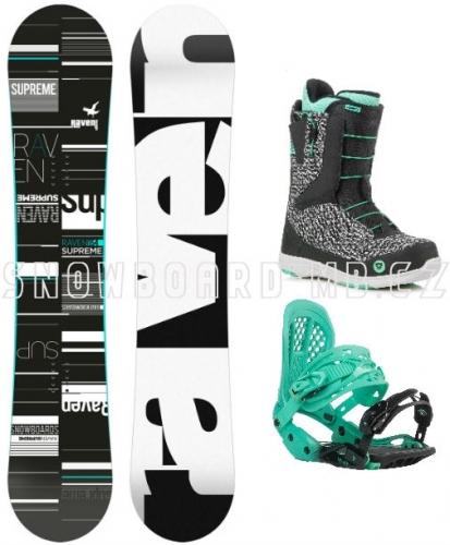 Dámský snowboard komplet Raven Supreme (rychloutahovací boty) - VÝPRODEJ